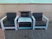 Кресла и столик из чистого дерева